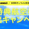 みんな大好き、ハワイへの特典航空券が取り放題だぞ!