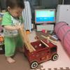 1歳の誕生日プレゼントに最適な乗れる消防車!2歳でも喜んで遊んでくれる手押し車&型はめパズル&木のおもちゃ