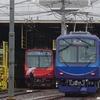 叡電、723号車のリニューアル車貸切運転を撮る。