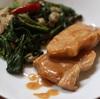 空芯菜とテンペの炒め