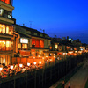 夢リスト91・京都の鴨川にある川床で食事をする