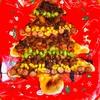 『クリスマスツリーの米粉ピザ』