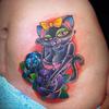 猫 cat tattoo タトゥーデザイン