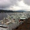 台風を避けて、気仙沼入港