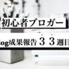 ブログ成果報告33週間(7/4〜7/10)経過。【総アクセス6000PVブロガーのリアル】