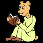 読書をするクマ のイラスト