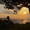 金比羅公園で日没