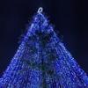イルミネーションで彩られたクリスマスツリー