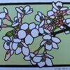 桜の花の切り絵制作