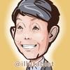iPadproで描いた カラテカ矢部太郎さんの似顔絵。