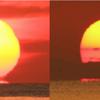 【レア現象】愛媛県西条市や鳥取県境港市で『だるま朝日』が出現!冬型蜃気楼と言われる『下位蜃気楼』の一つである『だるま朝日』が真夏に見られるのはかなりレア!!