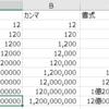 エクセルの大きな数字を億千万表示にして読みやすくする。