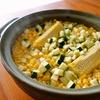 トウモロコシの炊き込みごはん、そしてナポリタンなど。