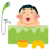 今日は久しぶりにお風呂に入りました