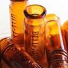 USAヴィンテージアンバーガラスミニメディシンボトル|BELL ANS薬瓶 [OTH-18-001]