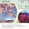 2月1日(土)から富士市で絶景☆富士山まるごと岩本山-「富士山」と「梅」「桜」の絶景を望む-が始まります