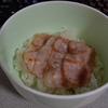 ベーコン丼 味噌汁