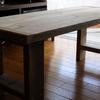 足場板古材テーブル