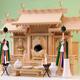 定番三社 弥栄シリーズから屋根違い三社 中型サイズの祭り例