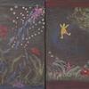 1年生の黒板画 Tafelbild der 1Klasse