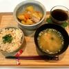 【献立・一汁一菜】鮭の炊き込みごはん+肉じゃが+味噌汁
