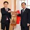 駐日キルギス大使・ミルラン・アルスタンバエフ氏の表敬を受けた