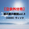 【 立会外分売 】朝の板の解説vol.3 (4440)ヴィッツ