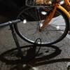 自転車の前タイヤ…