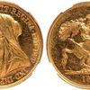 イギリス1893年ヴィクトリア5ポンド金貨ヴェールドヘッドMS63