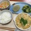 豆腐と里芋の玉子あんかけと緑の蒸し野菜と大根汁