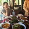 【カンボジア女子一人旅】村でのお昼ご飯 (o・д・o)