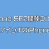 iPhone SE2が開発中止?それもショックだけど4.7インチのiPhoneが出ない事がよりダメージデカイっす!