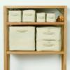 一人暮らしの収納は、ほぼ無印のソフトボックスで完結する。