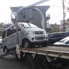 板橋区から放置車両をマンション駐車場からレッカー車で廃車の引き取り撤去しました。