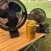 夏キャンプに必須の扇風機。コスパと使い勝手万能の小型扇風機。
