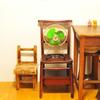 【昭和レトロ】半分ゴミだった卓上扇風機は古道具の木製家具とも相性よし
