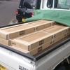フローリング購入・凍結防止・合板敷いた・ゴミ運搬ナドナド