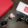 ValentinoとRaybanのサングラスを買いました。