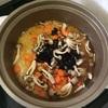 土鍋で、いつもの炊き込みご飯