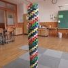 やまびこ:ドミノで見事なタワー