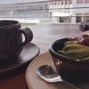 抹茶ソフトとコーヒー