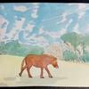 水彩画49枚目「馬散歩」