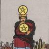 タロットカード:小アルカナ ペンタクルの4