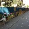 首都アンマンのレインボーストリート。「ウォールアート」で絵になる3歳児(ヨルダン