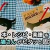 100円で買える可愛すぎる【ページホルダーキャット】黒猫さんが大活躍♪