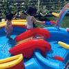 【シャワー&滑り台付き✨】多機能な大型プールに大満足🌼