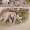 絵を習いに行っています。
