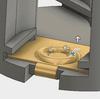 樹脂フレームと電極1をアセンブリで配置し、モデルが干渉することに気がついた。