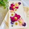 押し花の手帳型iPhoneケース【お花以外制作費500円以下】