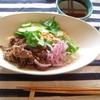 夏のお昼ご飯に、渡辺有子さんの、ベトナム風冷麺。マキネッタでアイスカフェラテ。湧き水汲み。田舎暮らしと、ドラッカー。